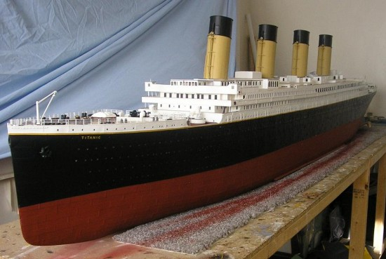 Jason King Titanic4 550x369 Man Builds An Amazing Titanic Replica From Scrap