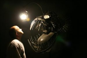 Recycled Scrap Metal Deep Se Angler Fish Lamp 3 300x200 Recycled Scrap Metal Deep Se Angler Fish Lamp 3