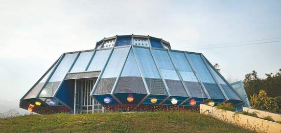UFO house Puerto Rico4 550x260 Man Builds His UFO House As A Revenge To His Ex Girlfriend