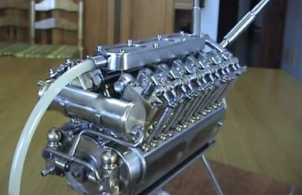 v12engine 12 600x389 Worlds Smallest V 12 Engine Made By A Spanish Engineer (Video)