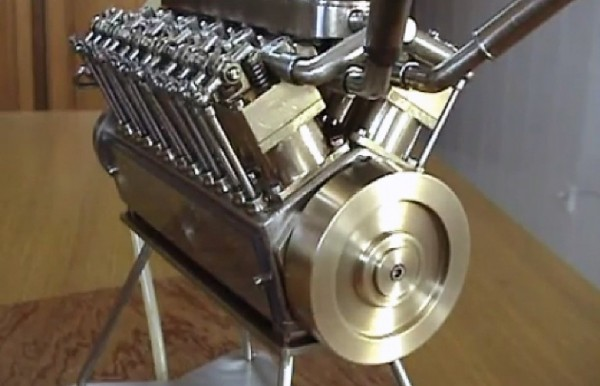 v12engine 4 600x386 Worlds Smallest V 12 Engine Made By A Spanish Engineer (Video)