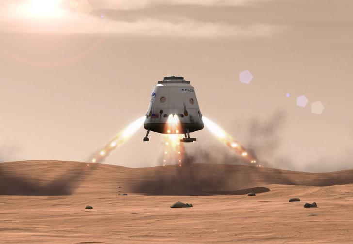 Red-Dragon-Landing-space-x-elon-musk
