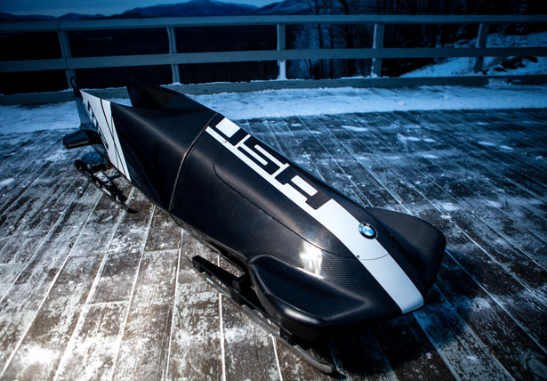 BMW unveils M2 2-Man Bobsled in Lakle Placid.