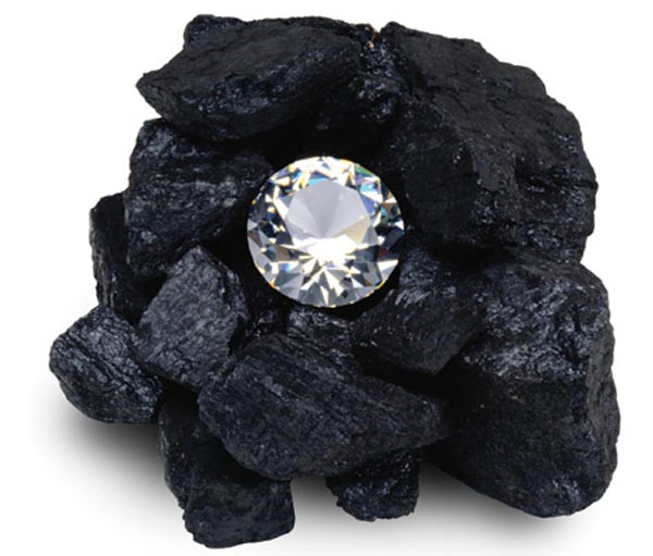 Diamonds Are Made from Coal