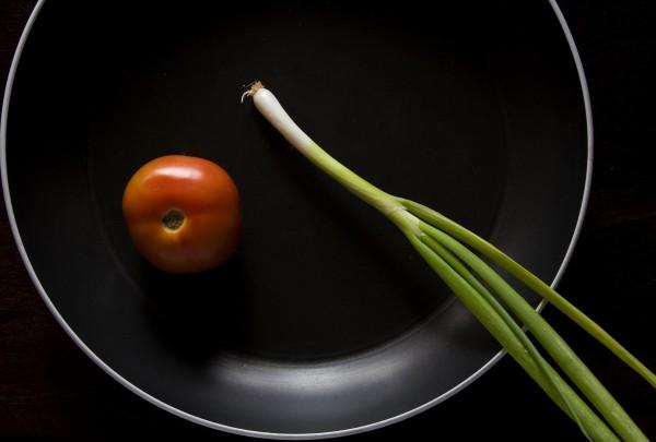 Tomato in pan