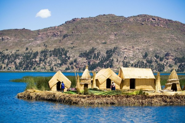 6. The Floating Islands of Lake Titicaca, Peru