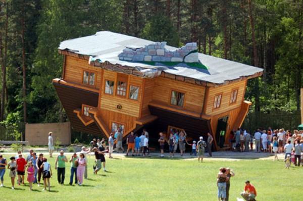 4. Upside-Down House in Szymbark, Poland