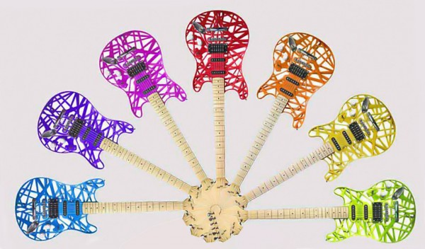 9. Guitars 600x352 10 Amazing New Uses Of 3D Printers