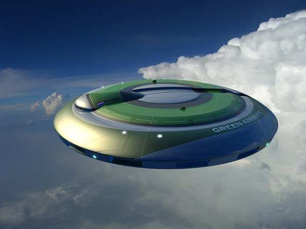 9.The Green-Airways Flying Saucer