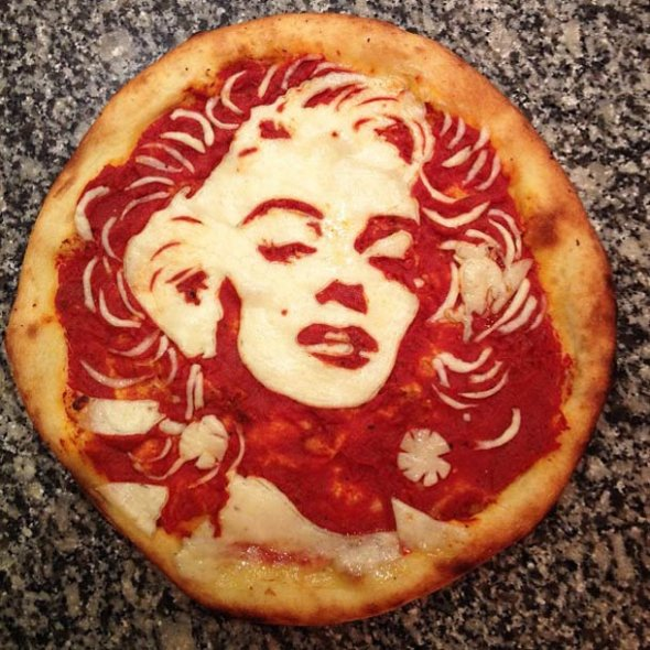 Celebrity Pizza Portraits