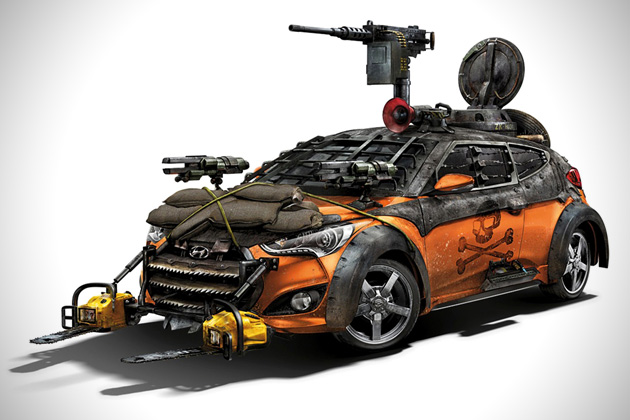 2013 Hyundai Veloster Zombie Survival Machine 1 Hyundai Veloster Machine Will Help You Survive Zombie Apocalypse