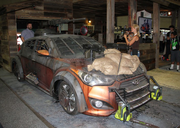 2013 Hyundai Veloster Zombie Survival Machine 2 Hyundai Veloster Machine Will Help You Survive Zombie Apocalypse