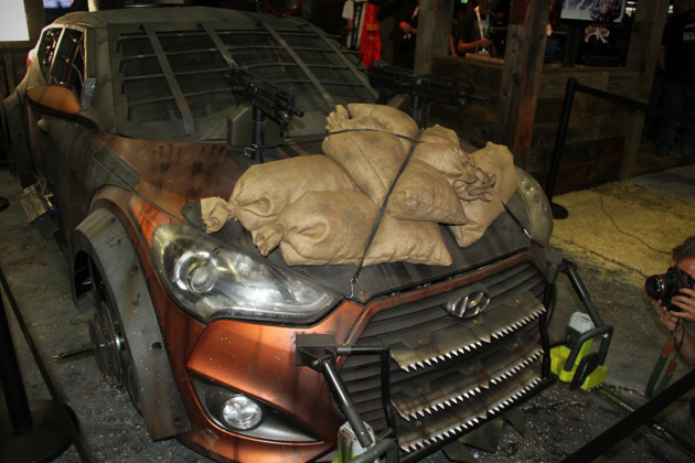 2013 Hyundai Veloster Zombie Survival Machine 3 Hyundai Veloster Machine Will Help You Survive Zombie Apocalypse
