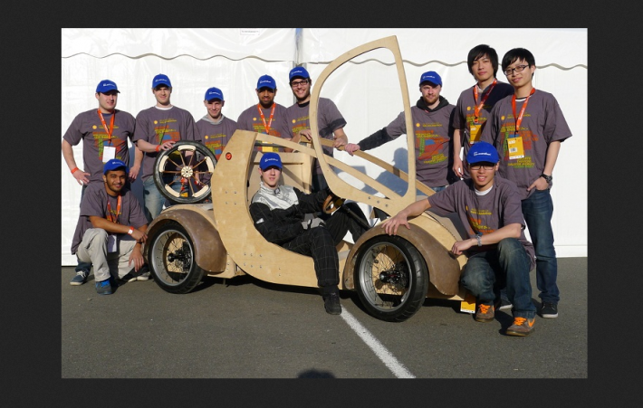 shellracer3 Meet The Hydrogen Powered Card Board Race Car