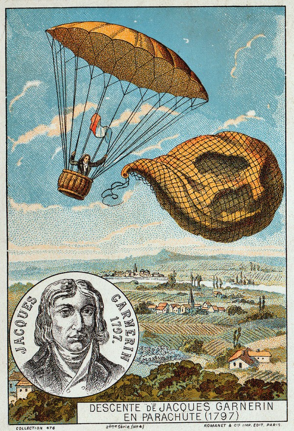 First Parachute Jump by inventor Garnerin