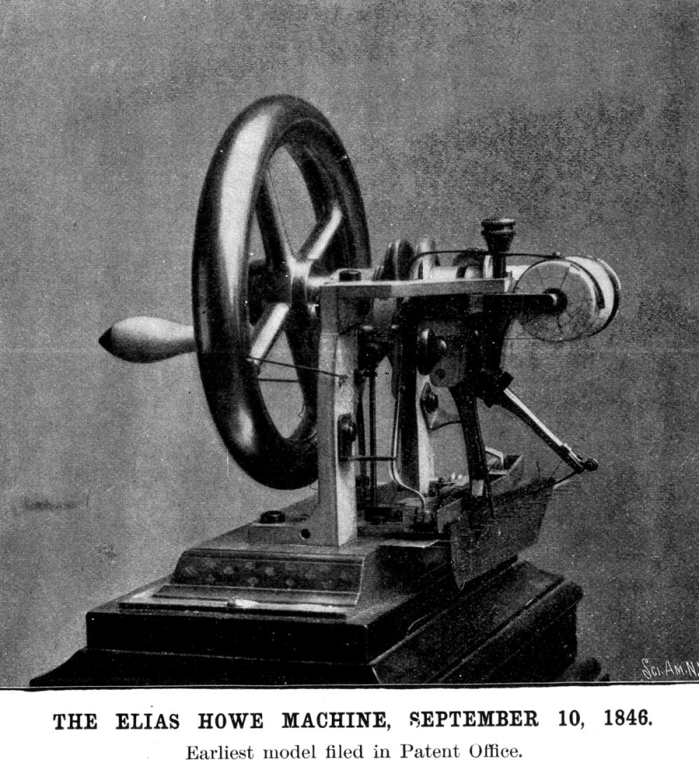 First Sewing Machine by Elias Howe