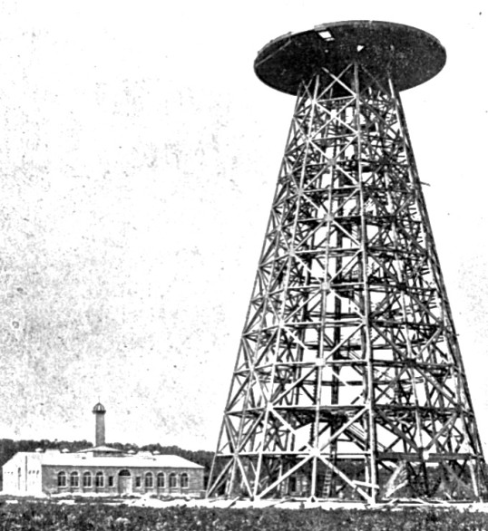 First wireless Tower by Tesla