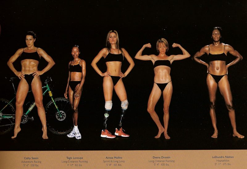 Female rowing body