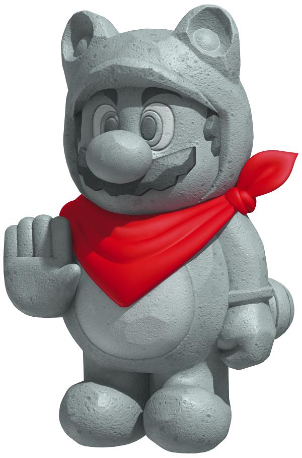 Mario power-up statue