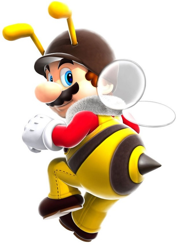 mario power-up bee