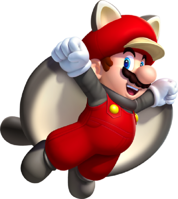 mario power-up flying squirrel