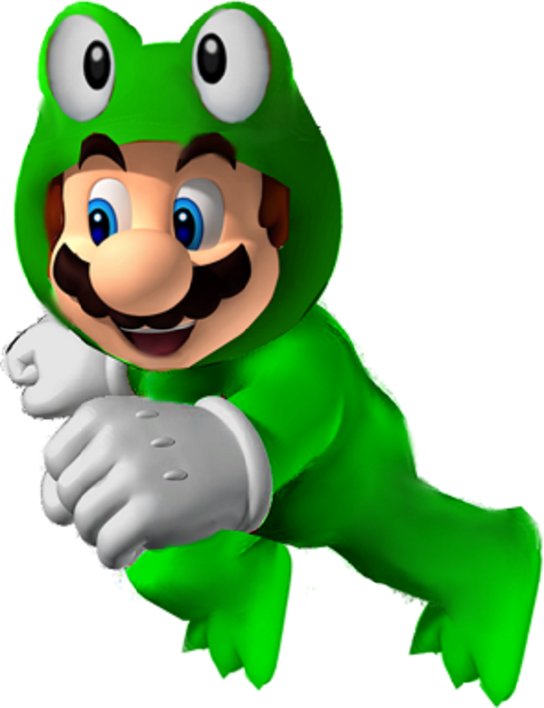mario power-up frog