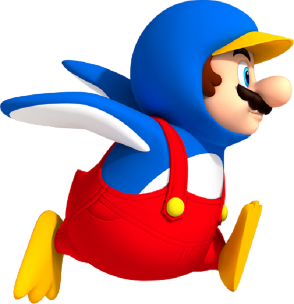 mario power-up penguin
