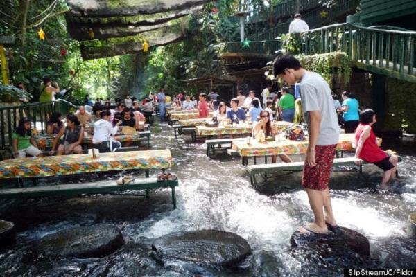 Philippines Restaurant Provides Serene Waterfalls
