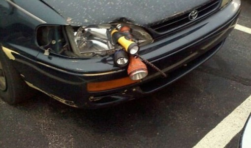 flashlight headlights