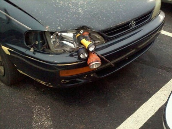 flashlight headlights