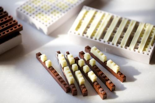 chocolate building bricks