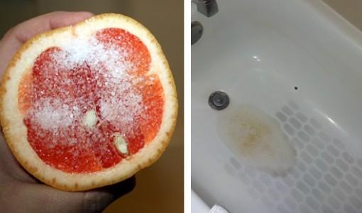 grapefruit and salt