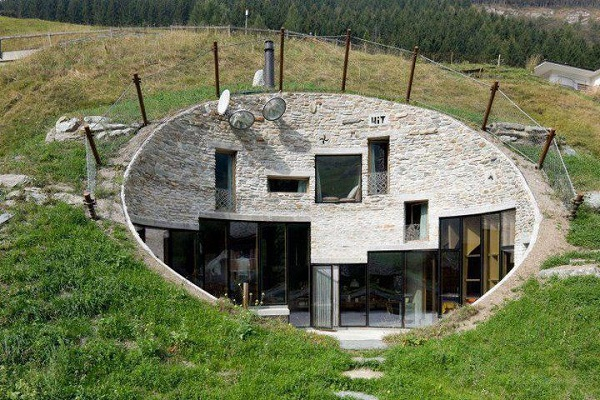 Swiss Mountain Underground House