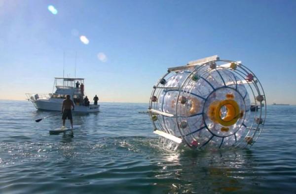 man floating in bubble 2