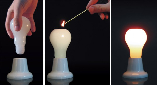 lightbulb candle
