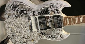 The World's Most Valuable Guitar Is Embedded With Over 400-Carat White Diamonds