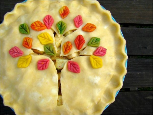 colorful tree pie