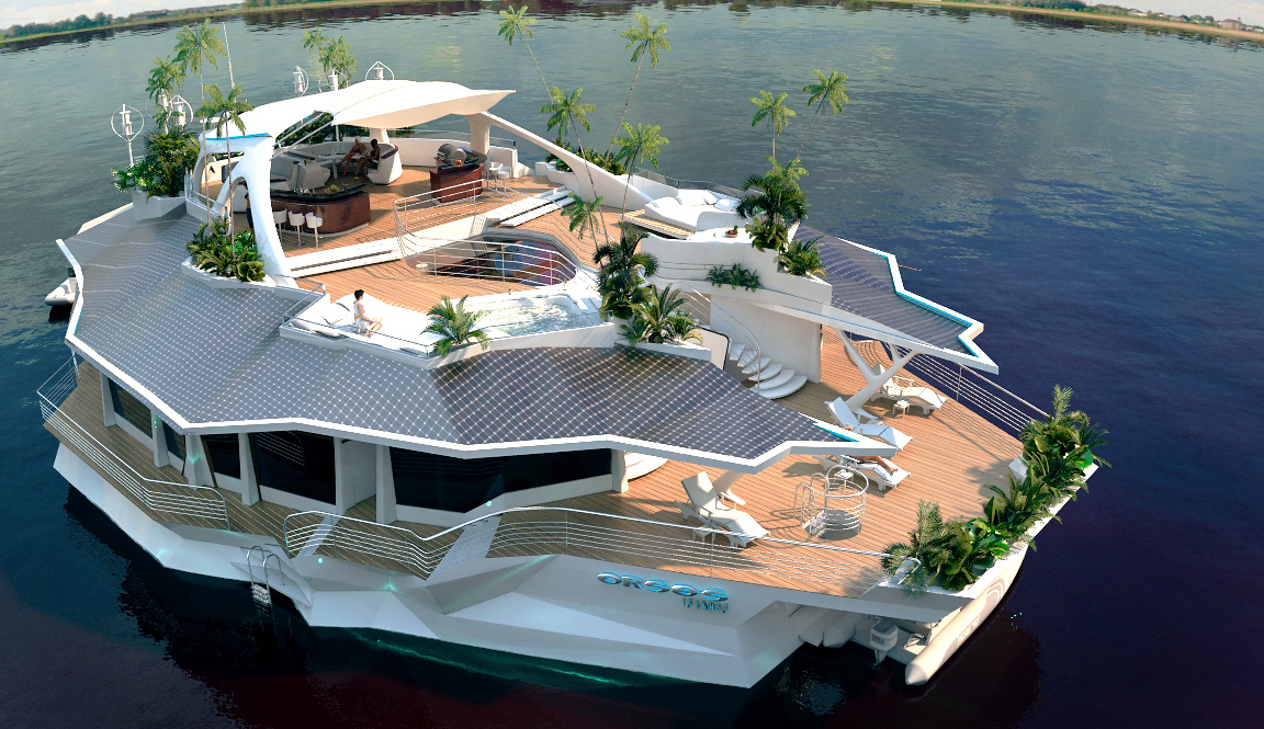 Travel The World In Your Home With This Solar-Powered Luxury Island Yacht