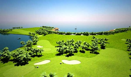 floating golf course 2