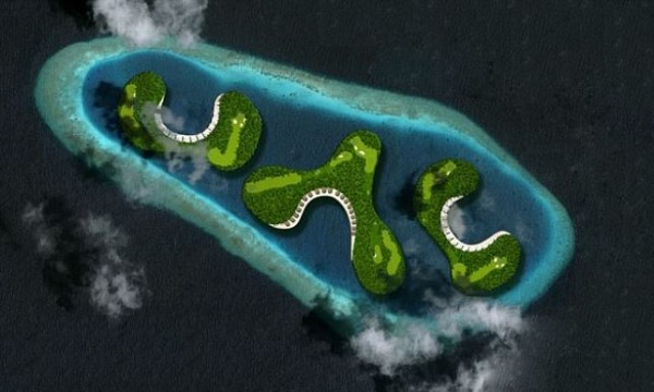 floating golf course 4