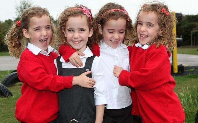 odds of identical quadruplets