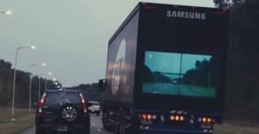 Samsung's New 'Safety Trucks' Line Brings See Through Trucks To Make Roads Safer