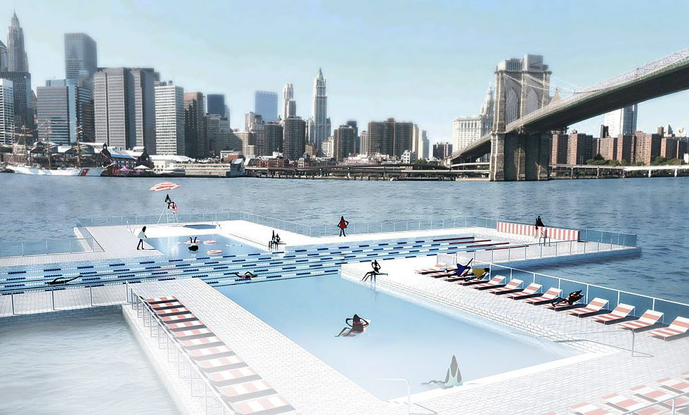 World 39 S First Floating Water Filtering Pool Will Debut In