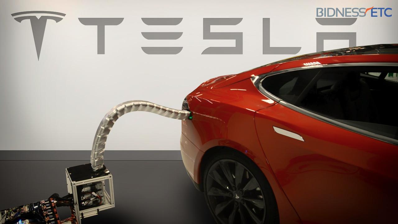 Tesla's Innovative Car Charger Prototype Is Like A Metal ...