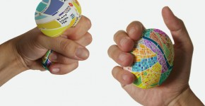 Stress Ball 'EggMap' Doubles As Navigational Map Showing Street Info When Squeezed