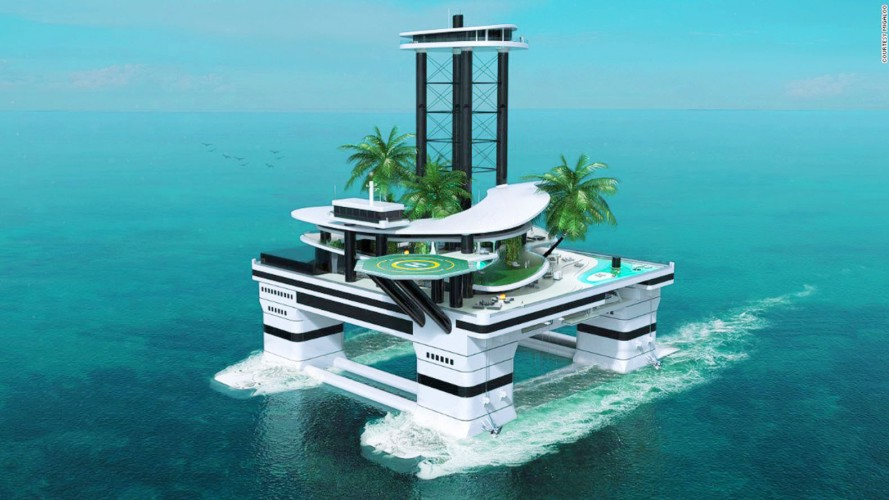 Self Propelled Floating Island Kokomo Ailand Is The Sea S