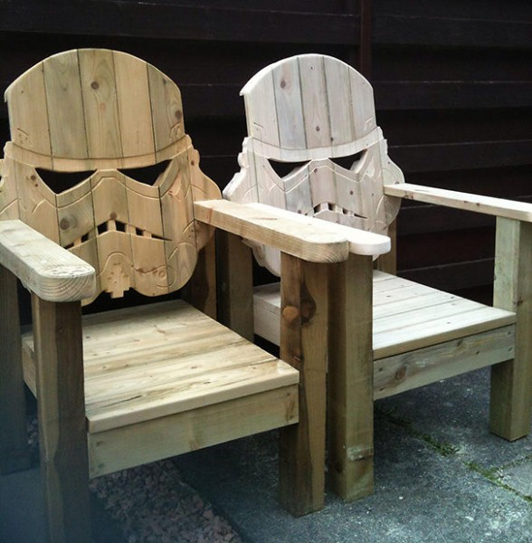 star wars wooden chairs