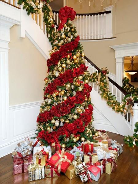floral christmas tree 1
