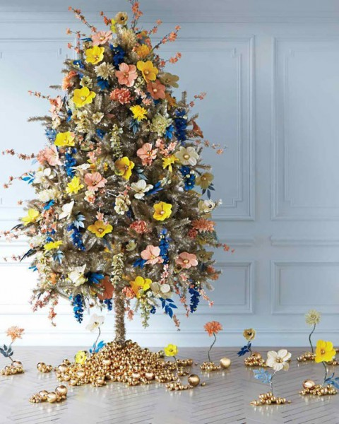 floral christmas tree 10