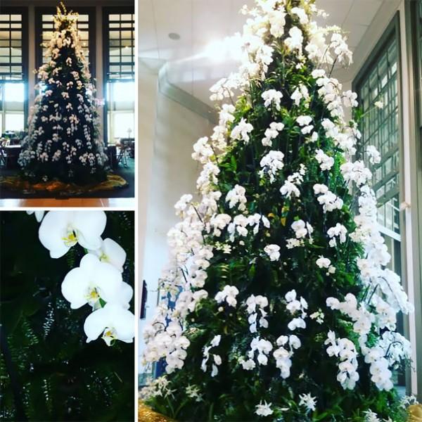 floral christmas tree 3
